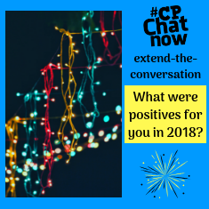 "This week's extend-the-conversation question asks ""What were positives for you in 2018?"""