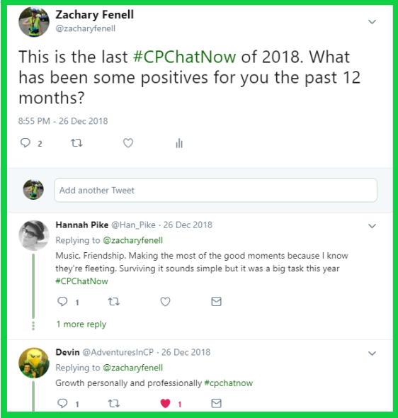 #CPChatNow participants reflect back on their 2018s.