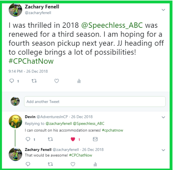 Zachary hopes Speechless will get a fourth season.