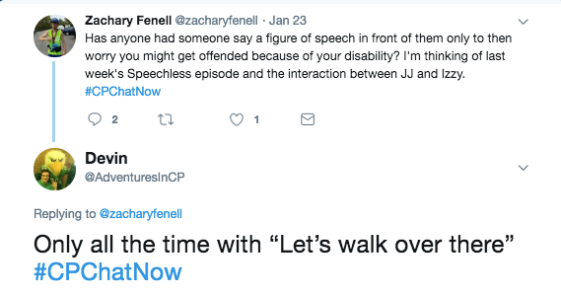 "We tweeted about whether figures of speech were offensive. I shared many people worried whether the figure of speech ""Let's walk over there"" is offensive"