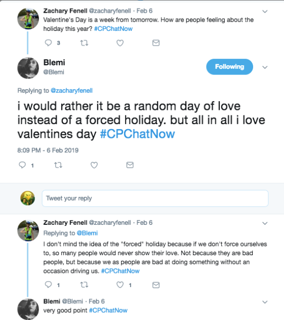 Zach and Blemi chat about Valentine's Day being a forced holiday