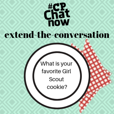 "This week's extend-the-conversation question asks, ""What is your favorite Girl Scout cookie?"""