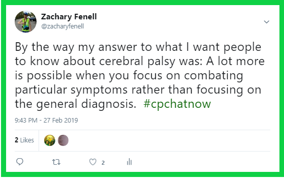 Zachary expresses what he wishes people knew about cerebral palsy.