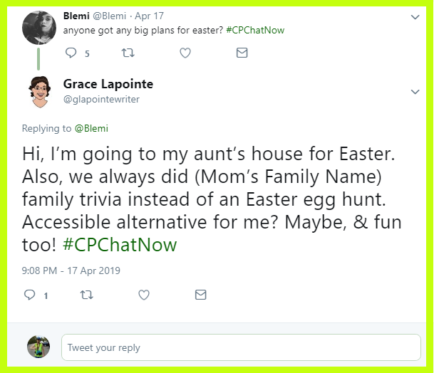 Grace's family plays family trivia on Easter.
