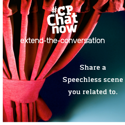 "This week's extend-the-conversation question asks ""Share a Speecless scene you related to."""