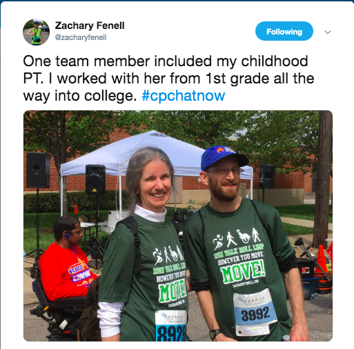 zach with his childhood pt