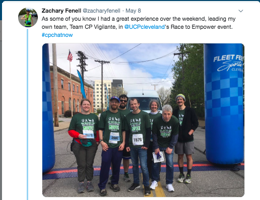 zach with his race to empower team