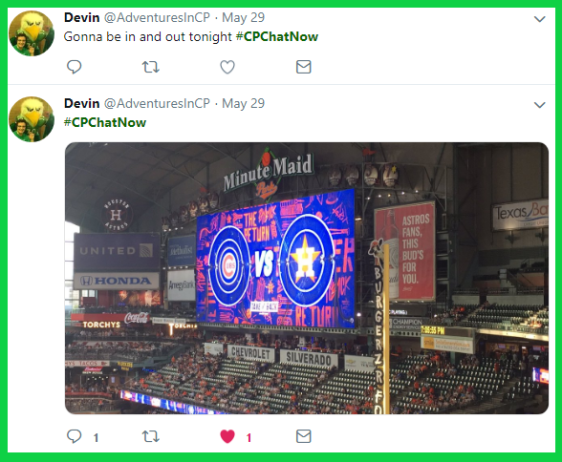 Devin joined #CPChatNow from Minute Maid Park, where he watched the Cubs and Astros play ball!