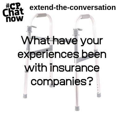 "This week's extend-the-conversation question asks, ""What have been your experiences with insurance companies?"""