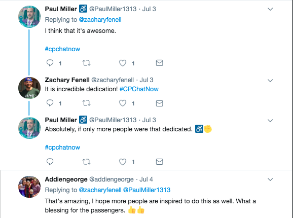 Paul Miller and Addiengeorge tweeted their appreciation towards Peter Kline