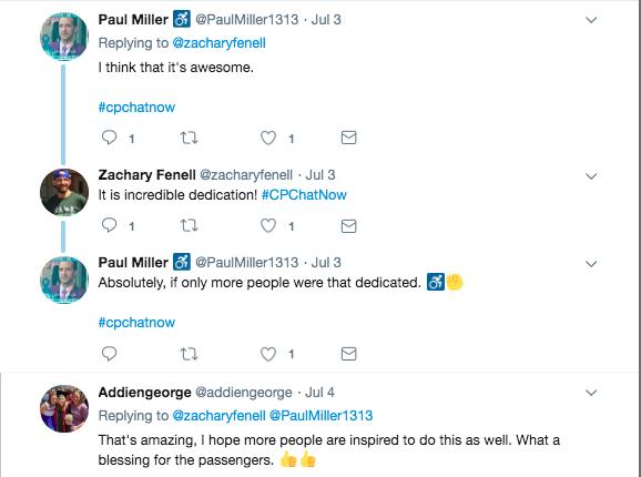 Paul Miller and Addiengeorge tweeted their appreciation towards Peter Kline