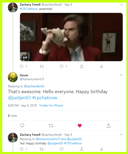 Devin and Zachary wish Jen a happy birthday.