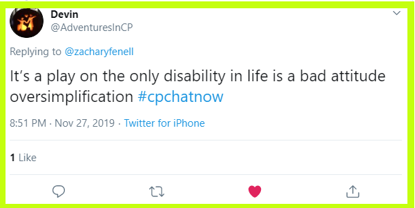 Devin gives backstory to his favorite disability related quote.