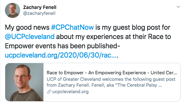 "zach tweets about a guest blog post about cleveland UCP""s race to empower"