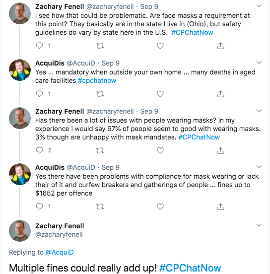 acquidis tweets masks are mandatory outside the home with many dying in aged care facilities, she tweeted there are $1652 fines per offense of not wearing a mask or breaking curfew